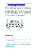 Core topics covered on the ccna exam