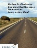 The Benefits of Performing Operational Due Diligence on Private Equity- Paving the Way Ahead