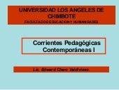 Corrientes pedagogicas contemporaneas