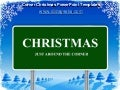 Corner christmas power point templates