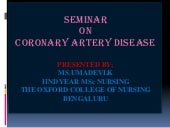 Coronary heart diseases ppt