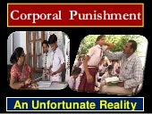 Corporal  punishment an unfortunate...