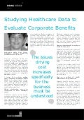 Studying Healthcare Data to Evaluate Corporate Benefits - Jodi Fuller, MeadWestvaco Corporation