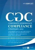 Corporate Governance Compliance 2012 Agenda