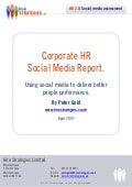 Corporate HR Social Media Report