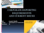 Corporate reporitng requirements