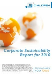 Corporate sustainability report for...