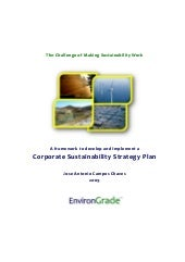 Corporate Sustainability Strategy Plan
