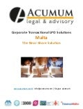 Corporations Transactional Outsourcing (LPO) Solutions- Acumum Legal & Advisory
