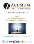 Corporations & Law firms - Intellectual Property Outsourcing (IP-LPO) - Acumum Legal & Advisory