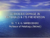 CORROSIVE DAMAGE IN METALS AND ITS ...