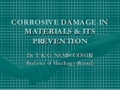 Corrosive Damage In Metals & Its Pr...