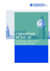 Corruption in the UK: overview and ...