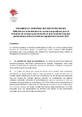 Document du COSL à l'intention des ...
