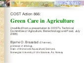 Green care in Agriculture: COST Act...