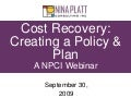 Cost recovery policy and plan