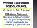 EHS School Council Presentation