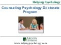 Counseling Psychology Doctorate Program