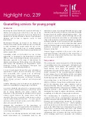Counselling Services For Young People