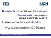 Countdown 2010: The 2010 biodiversi...