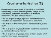 Counter Urbanisation Part 2