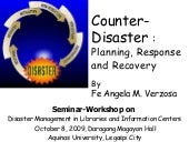 Counter Disaster Planning, Response...