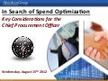 Coupa Aberdeen Webinar - In Search of Spend Optimization
