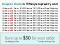Coupon code in tiffanyscojewelry.com