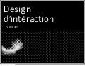 Cours1: design d'interaction