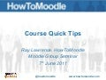 Moodle Course Quick Tips - HowToMoodle