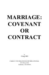 Covenant or contract