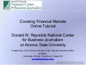 Covering Financial Markets