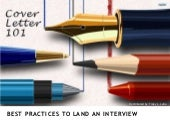 Cover Letter 101: Best Practices to Land an Interview