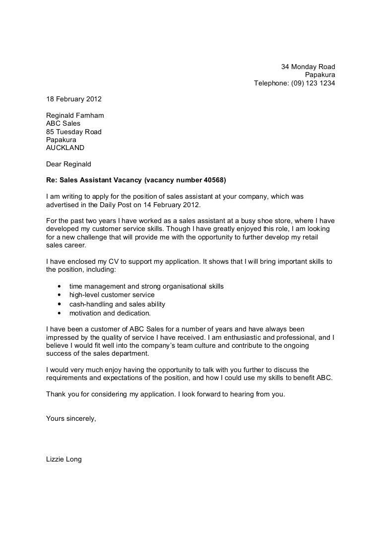 Shopassistantcoverletter Phpapp Thumbnail Jpg Cb Carpinteria Rural  Friedrich Example Of Cover Letter On Job Application Job