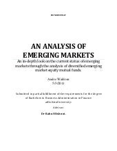 An Analysis of Emerging Markets&quo...