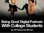 Being Good Digital Partners With College Students On Social Media