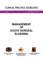 Cpg Management Acute Variceal Bleeding