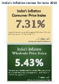 India's Inflation Review for June 2014