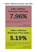 India's Inflation Review for July 2014