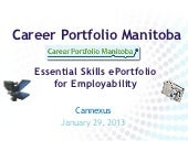 ePortfolios for Employability Cannexus 2013