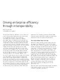 Driving enterprise efficiency through interoperability