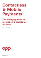 CPP contactless and mobile payments...