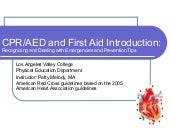 Cpr aed and first aid 2005 aha guid...