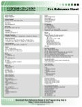 C++ Quick Reference Sheet