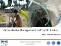 Groundwater management: Jaffna, Sri Lanka