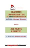 Crafitti INNOVATIONTIPS book may 2012