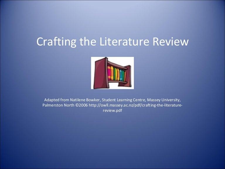 University literature review