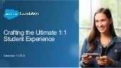 Crafting the Ultimate 1:1 Student Expereince Webinar
