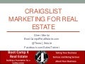 Craigslist Marketing For Real Estate