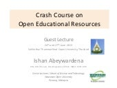 Crash course on open educational re...